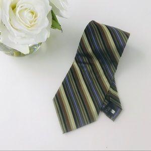 Aurelio Valentino 100% Silk Striped Men's Tie